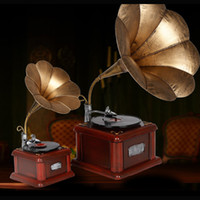 Wholesale Metal Craft Ornaments - Gramophone Recorder Model Tin crafts Antique Phonograph Retro Model Arts and Crafts for Bar Study Bedroom