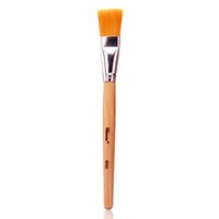 cepillo de madera para cimientos al por mayor-1 unid pinceles de maquillaje base de moda cepillo de la máscara de bricolaje facial pelo sintético mango de madera mujeres cara maquillaje Comestic herramientas