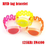 Wholesale rfid silicone bracelet for sale - Group buy RFID KHz EM4100 tk4100 silicone wristband Watch bracelet waterproof for swimming pool Sauna RFID electronic tags