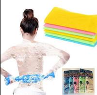 Wholesale Back Exfoliating - Nylon bath cloth Exfoliating Beauty Skin Bath Shower Wash Cloth Towel Back Scrubbers body wash towel skin polishing towel KKA2175