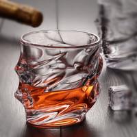 içki içki tasarımları toptan satış-Yaratıcı Kazınmış Tasarım Viski Gözlük 8 oz Içme Bira Su Şarap Brendi Vodka Bar Otel Restoran Dekorasyon