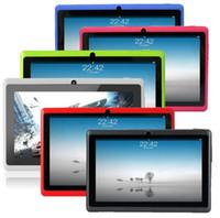 pc cpu china al por mayor-CIGE Free Ship 7 pulgadas Q88 Tablet pc Dual cámara Android 4.4 A33 7 pulgadas Tablet PC Quad Core CPU wifi / bluetooth tabletas 512GB / 4GB