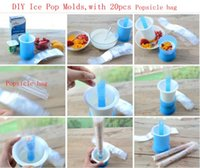 Ice Pop Pouch Moulds Popcicle Sacs de sachet rétractable Bricolage Sacs de mouchoirs Popsicle avec 20 pcs Sachet de popsicle LJJK675
