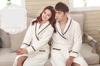 Wholesale Thick Corduroy Shirt - Autumn and winter coral wool lovers in the thick robe of the bathrobe bathrobe of men ladies flannel pajamas