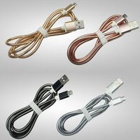 Wholesale Spring Steel Wire Wholesalers - 1M 3FT Metal Spring Steel Micro USB Sync Data Lighting Cable Scaling Strongable Charging Line Cord Wire For Samsung S8 HTC LG 2017 New