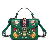 Wholesale Embroidered Flower Bag - bags handbags women famous brands Embroidered bag fringe crossbody shoulder strap bag luxury designer leather top-handle bags