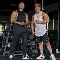Wholesale Top Sexy Wear Men - Wholesale- Muscle Guys New Brand gyms clothing Bodybuilding Fitness Men Tank Top Golds Gorilla shark Wear Vest Stringer sexy Undershirt