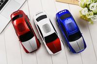 bluetooth hoparlör araba şekilleri toptan satış-DS-510BT Bluetooth Hoparlör Araba Şekli Hoparlör Taşınabilir Süper Bas Masaüstü Hoparlör Desteği TF FM USB MP3