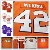 Wholesale Muse Black - Clemson Tigers 42 Christian Wilkins 90 Dexter Lawrence 19 Tanner Muse 18 T.J. Chase Purple White Orange Stitched College Football Jerseys S