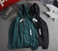 Wholesale Coupling Clips - Europe and the United States tide card clip zipper autumn and winter men and women couple thin section hooded bboy jacket