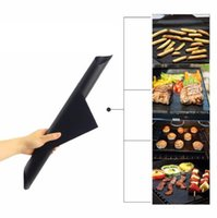 Wholesale Outdoor Grill Kitchens - BBQ Grill Mat Magic Mats Non Stick Grilling Outdoor Plate Baking Mats Pads Moulds Cooking Oven Baking Tray Kitchen Tools 1000PCS KKA1849