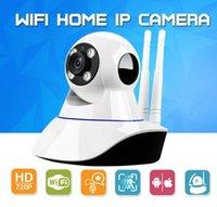 kutu cctv kameralar toptan satış-Ev Güvenlik Kablosuz Mini IP Kamera Gözetim Kamera Wifi 720 P Gece Görüş Perakende Kutusu Ile CCTV Kamera Bebek Monitörü