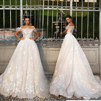 Wholesale Miss Dresses Com - 2017 Arabic Lace Wedding Dresses Vintage Off The Shoulder Illusion Cap Sleeves A-Line Wedding Dresses Backless Vestido De Noiva Com Renda