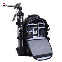 bolsa de cámara dslr al por mayor-Al por mayor- Multifuncional Black Deluxe Camera Backpack Bag Case Sony Canon Nikon DSLR SLR