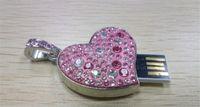 stift-antriebsform groihandel-20120 Heiß !! New herzförmiger Diamant-128 GB USB-Flash-Laufwerk Pen Drive 128 GB 256 GB 64 GB USB 2.0 Flash Drive-Stick Memory Stick Flash-