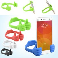 Free DHL Lazy Mobile Phone Holder Lit Pouce Cellulaire Smartphone Tablet Accessoire Support Support Bureau Table Stents
