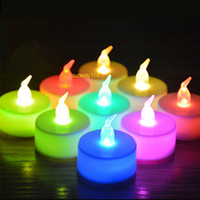 Wholesale Flickering Flameless - Christmas lights 3.5*4.5cm Battery operated Flicker Flameless LED Tealight Tea Candles Light Wedding Birthday Party Christmas Decoration