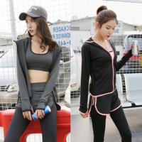 Wholesale Outdoor Yoga Clothing - Wholesale-Women Yoga clothes 5 sets of sports outdoor suit running loose yoga clothing summer fitness clothes