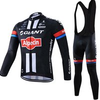 Wholesale Giant Cycling Thermal Clothing - Free Shipping 2017 GIANT cycling jersey bike pants set Winter thermal fleece cycling wear pro bike clothing