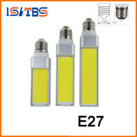 Wholesale E14 Led Cob Corn Bulb - LED Bulbs 7W 9W 12W E27 G24 G23 E14 220V 110V LED Corn Bulb Lamp Light COB Spotlight 180 Degree AC85-265V Horizontal Plug