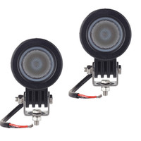 Wholesale Round Atv Headlight - 2pcs CREE chip 10W LED Work Light 2 Inch 12V Car Auto SUV ATV 4WD 4X4 Offroad LED Driving Fog Lamp Motorcycle Truck Headlight