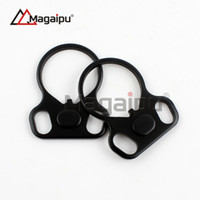 Wholesale Qd Plate - Magaipu Hunting Steel QD Quick Detach Point End Plate Loop Sling Adapter Mount Accessories Free Shipping