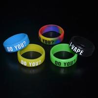 Wholesale Cheap Band Bracelets - Personalized silicone bracelet, silicone vape band ring, cheap rubber band 22mm inner diamerter beauty ring for e cig