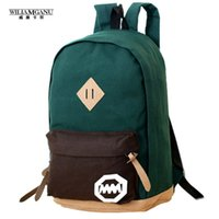 Wholesale Cheap Pink Backpacks - Wholesale- WILIAMGANU 2017 Women Backpack Casual Travel Bag Fashion School Bag [6 colors] Canvas Shoulder Bags Cheap Price Free Shipping
