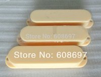 Wholesale Cream Pickup Covers - Guitar parts 2SETS Pack single coil guitar pickup cover Cream color colsed pickup cover