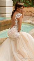 Wholesale Embellished Mermaid Dress - sheer back mermaid wedding dresses 2017 crystal design bridal embellished bodice sleeveless sweetheart neckline fit and flare wedding gowns