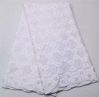 Wholesale White Swiss Cotton Voile Lace - Fashionable 2017 Cotton White Lace Swiss Voile Lace In Switzerland High Quality Nigerian Lace Fabrics For Wedding XZ327B-3