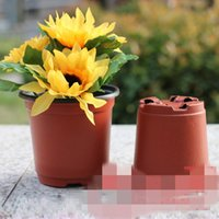 Wholesale New PP Plastic Flower Pots Small Pots Nursery Pots Height mm mm freeshipping HY1290