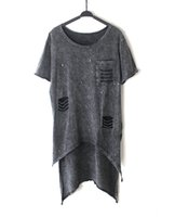 Wholesale Women Clothing Punk - Wholesale- T Shirt Women 2016 Summer Style Fashion irregular Hem T Shirt Woman Rivet Hole Hollow Out Tshirt Punk Woman Clothes
