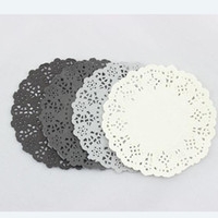 Wedding black paper doily - Black White Grey Mixed Colors Hollowed Lace Paper Doilies Placemat Crafts for DIY Scrapbooking Wedding Decoration Cake