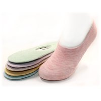 Wholesale Invisible Comb - Wholesale- 2016 fashion combed cotton simple style noble soft invisible boat socks includ 5pairs