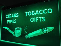 Wholesale Night Light Shop - LB732- cigars Pipes Tobacco Gifts Shop LED Neon Light Sign