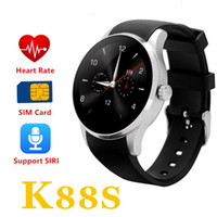 Wholesale Heart Rate Monitor Gel - 2016 K88S Bluetooth Smart Watch support SIM TF Card Smartwatch Silica Gel strap with Heart Rate Monitor for Android IOS pk k88h POST 1PC