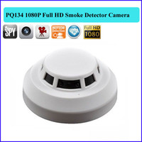 Wholesale Smoke Detector Video Recorder - HD 1920*1080P Smoke detector spy Camera Remote Control Hidden camera Video Recorder Camcorder Mini DV DVR camera PQ134