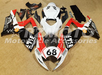 Wholesale Red Fit Bike - New TOP quality ABS bike Fairing Kits Fit For SUZUKI GSXR 600 750 K6 06 07 GSXR-600 GSXR750 GSXR600 GSXR-750 2006 2007 red white black 68
