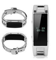 pulseira elegante d8 venda por atacado-Pulseira inteligente D8 Bluetooth Rastreador de Fitness Rastreador Câmera de Aço Inoxidável Pulseira Wearable Para Android IOS Phone Watch