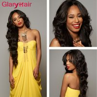 Wholesale Real Remy Hair Sale - Glary Hot Sale Real Human Hair Extensions Wefts Mink Brazilian Hair Bundles Straight Unprocessed Virgin Hair Bundles 4 5 6 Pieces Free Ship