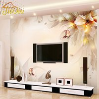 Wholesale Environmental Murals - Wholesale-Custom Photo Wall Paper 3D Stereo Minimalist Modern Living Room TV Backdrop Mural Environmental Protection Non-woven Wallpaper