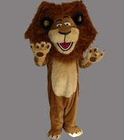 Wholesale Alex Lion Costume - Hot sales! Customized Madagascar Alex the Lion Mascot Costume Animal Mascot Costume Halloween Free Shipping
