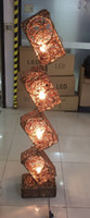 Wholesale Chinese Touch Lamps - Southeast Asian manufacturers selling lamps four Chinese living room hotel restaurant study cane rattan landing lights
