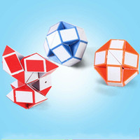 Wholesale toy snake game for sale - Mini Creative Magic Snake Shape Toy Game D Cube Puzzle Passage Changeable Magics Ruler Fold Into Shapes lj G1