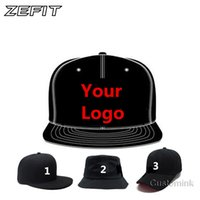 Wholesale Custom Logo Hat Embroidery - Zefit Fast Shipping Wholesale 10PCS LOT Snap Back Adult Kid 3D Embroidery Logo Customize Cap Custom Baseball Hat Custom Snapback Cap