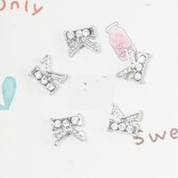 Wholesale Initial Charms Letter S - Wholesale- free shipping christmas gift 20pcs lot floating K initial letter with rhinestone charms S-11