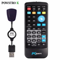Wholesale Windows Xp Media Center Remote - Wholesale- Wireless IR Remote Control PC Fly Mouse Mini USB Controller Media Center With USB Receiver For Windows 7 8 10 XP Vista