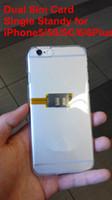 çift kart sim iphone 5s toptan satış-Çift Sim Kartlar ve Tek Bekleme Adaptörü iPhone 5S / SE / 6/6 Plus için GSM ve WCDMA SIM KART