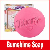 Wholesale Wholesale Handmade Bath Body - Bumebime Handwork Whitening Soap with Fruit Essential Natural Mask Bath Bombs Skin Body Double White Oil Handmade Soaps